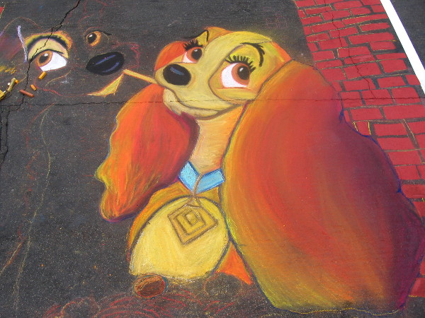 Mercedes Molloy shows Disney's Lady and the Tramp with Gesso Italiano.