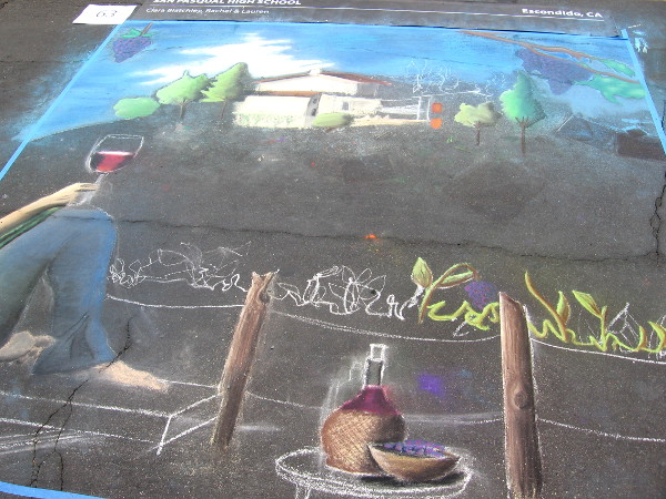 San Pasqual High School chalk art promises to look fantastic.