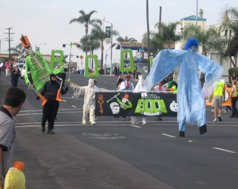 BOO! Parade kicks off a few blocks west of College Avenue in the late morning.