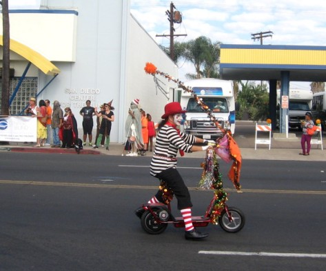 There were a few not-so-scary clowns around, too!