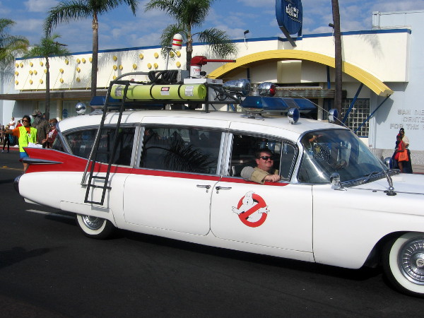 Two different Ghostbusters cars were in the parade.