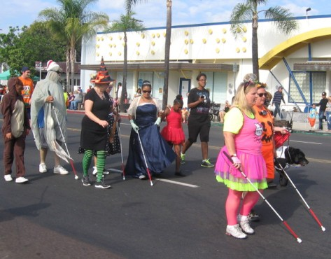 Costumed parade participants from San Diego Center for the Blind.
