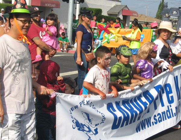 Several schools were in the parade and everyone was having a blast.