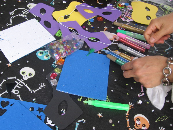 Masks and other crafts could be worked on by the creatively inclined.