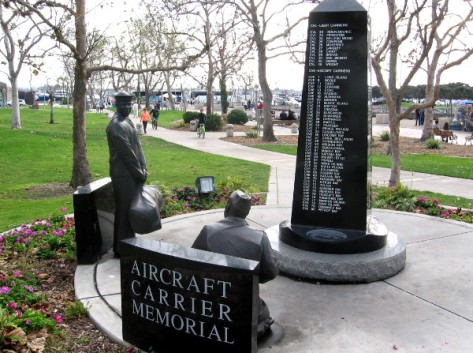 The Aircraft Carrier Memorial can be found on San Diego's Greatest Generation Walk.