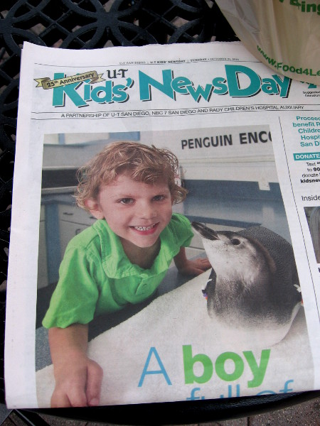 Kid's NewsDay helps raise funds for Rady Children's Hospital in San Diego.