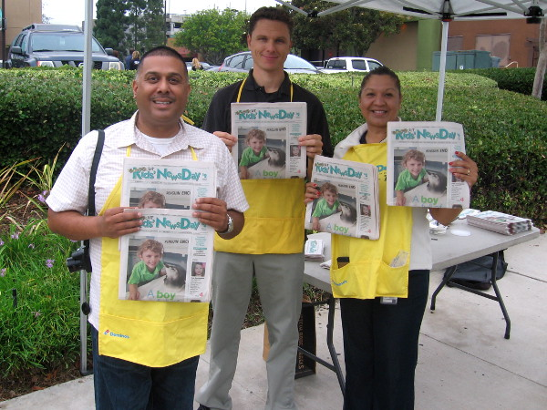 Selling special edition Union-Tribune newspapers during Kids' NewsDay!