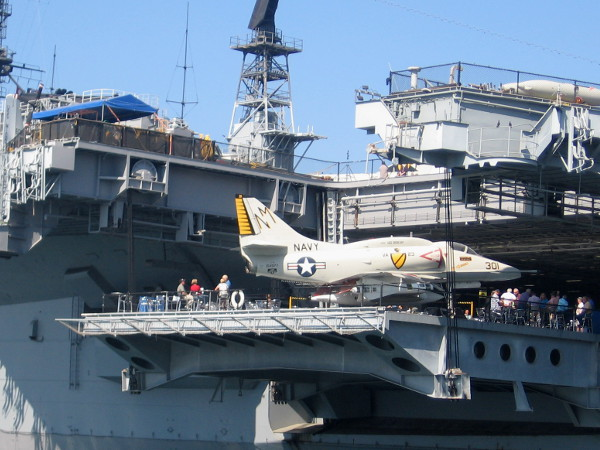 This A-4 Skyhawk of the Black Knights attack squadron was once based on USS Oriskany.