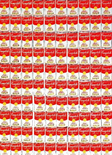 Andy Warhol, 100 Cans, 1962, courtesy the Albright-Knox Art Gallery.
