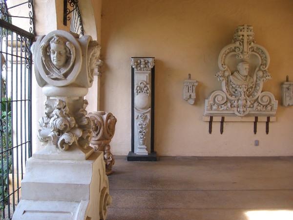 Beautiful works of art in Panama-California Sculpture Court at the Casa del Prado.