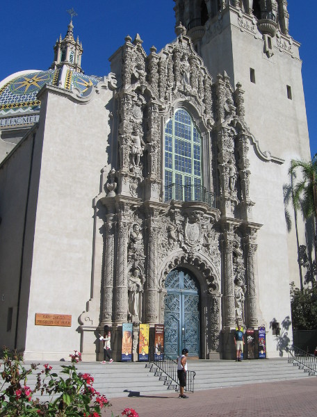 Elaborate facade of the beautiful Museum of Man in Balboa Park.