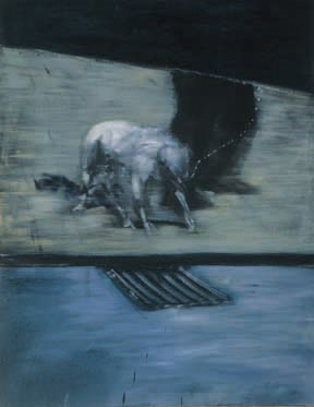 Francis Bacon, Man With Dog, 1954, courtesy the Albright-Knox Art Gallery.