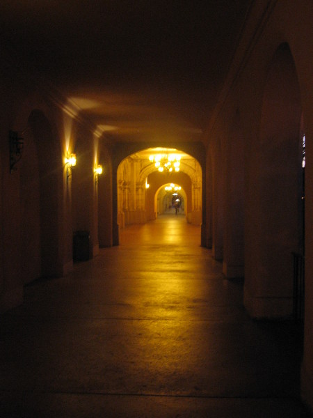Passage along El Prado becomes mellow and mysterious.