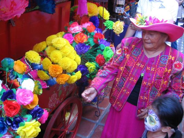 Día de los Muertos special event at Bazaar del Mundo is filled with color.