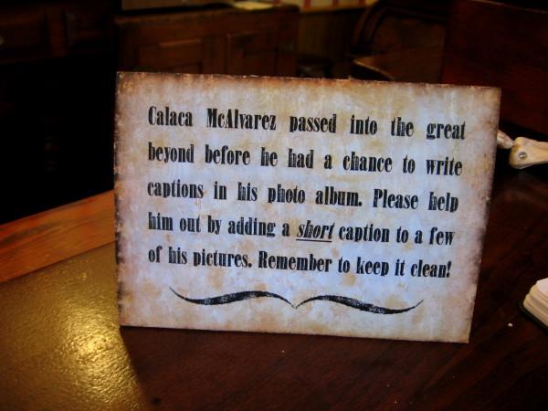 The bony fellow at the bar was called Calaca McAlvarez!