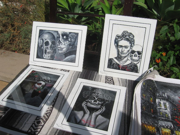 Prints on display for the big crowds attending Old Town's Day of the Dead.