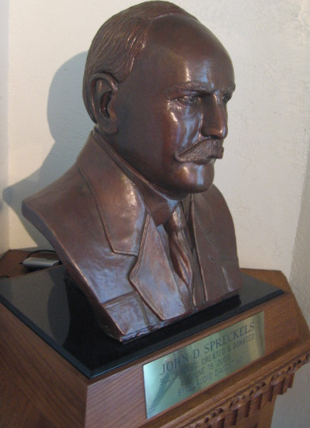 2005 bust of John D. Spreckels by sculptor Claudio D'Agostino.
