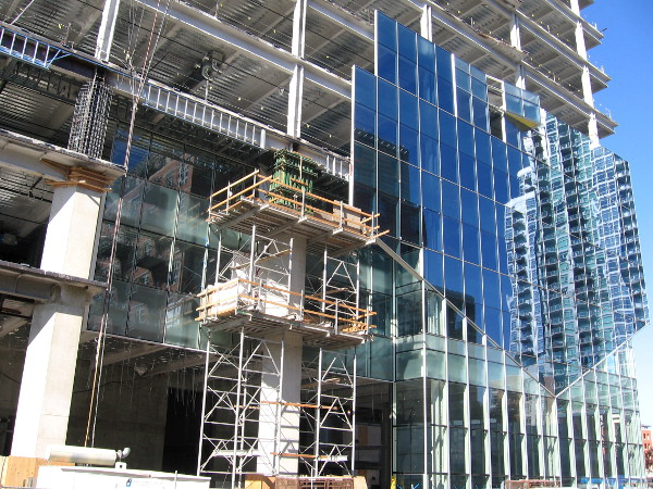 Construction of this gleaming high-rise can be observed in downtown San Diego.