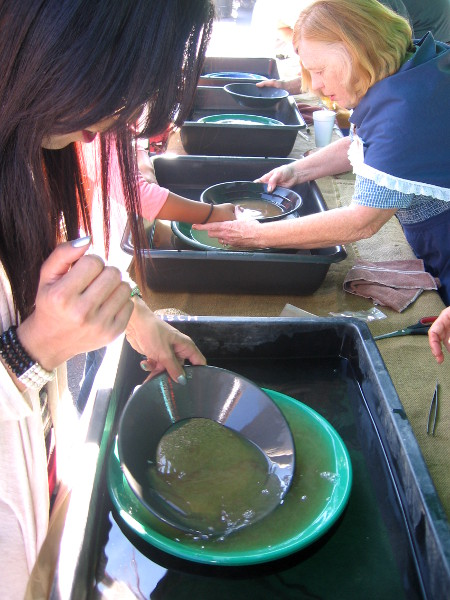 Temecula Valley Prospectors had kids panning for gold.