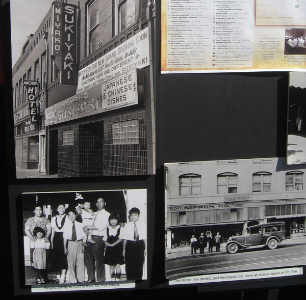 Historical exhibit has photos of Japanese settlers and community in San Diego.