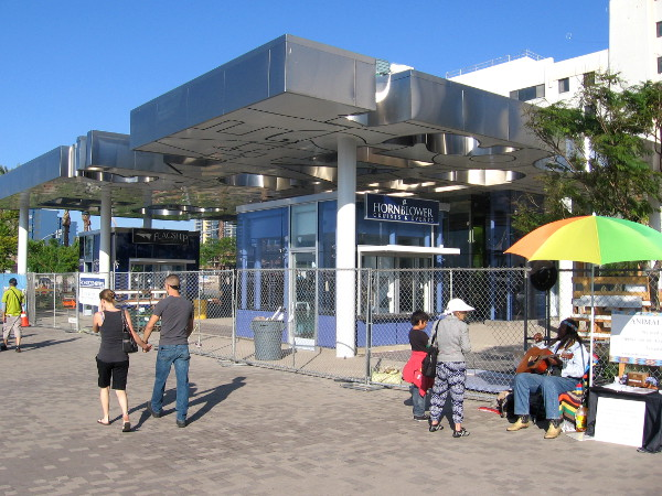 New pavilion near Broadway Pier is almost finished in early November 2014.
