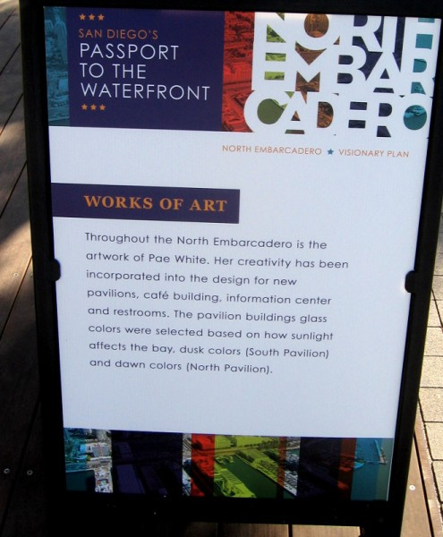 Art for the North Embarcadero improvement was created by Pae White.