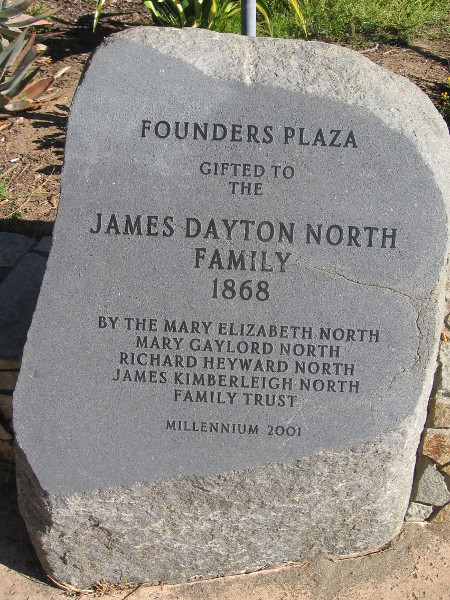 Founders Plaza gifted to the James Dayton North Family 1868.