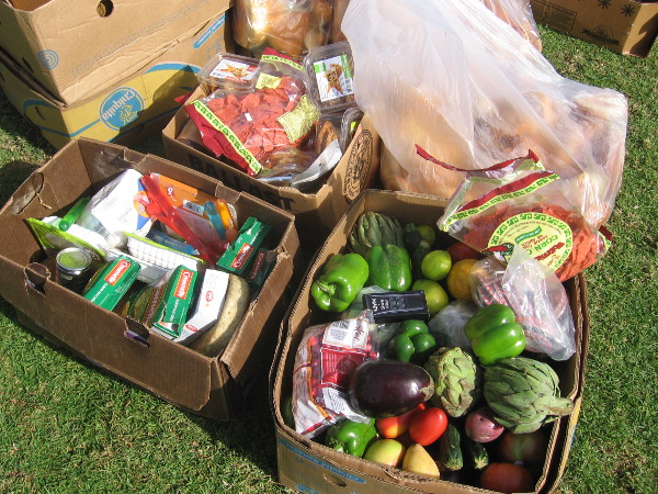 Wasted food includes vegetables, baked goods and expired packaged items.