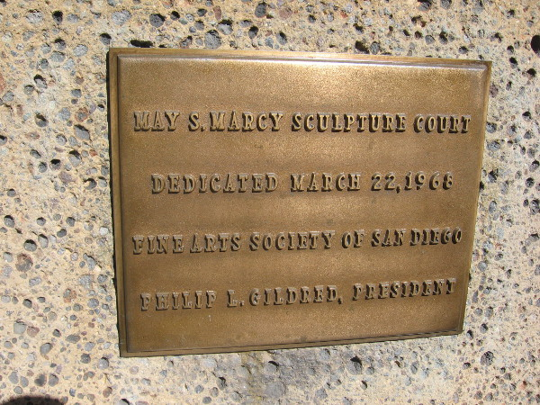 May S. Marcy Sculpture Court was dedicated in 1968.