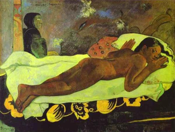 Paul Gauguin. Spirit of the Dead Watching,1892, courtesy the Albright-Knox Art Gallery.