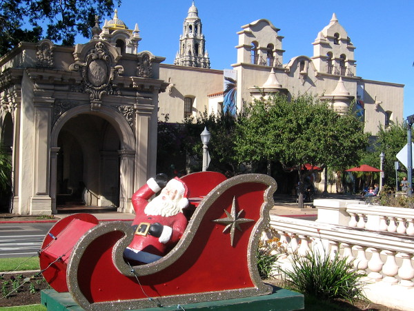 Santa's sleigh is back again for another Christmas in Balboa Park!