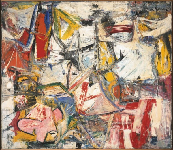Willem de Kooning, Gotham News, 1955, courtesy the Albright-Knox Art Gallery.