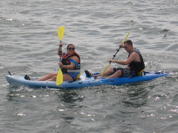 Paddling away on San Diego Bay. Looks like a fun adventure!