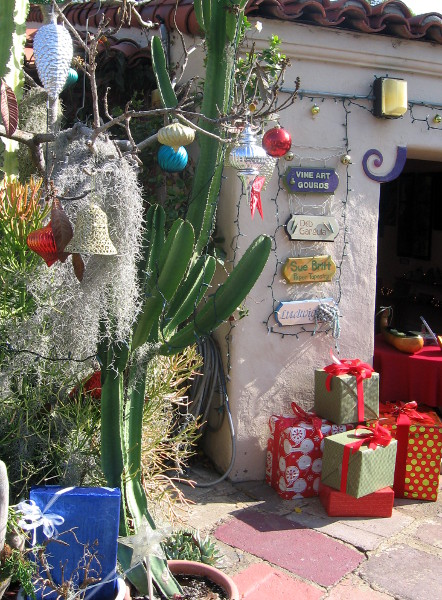 Presents, ornaments and cacti in Balboa Park's Spanish Village!