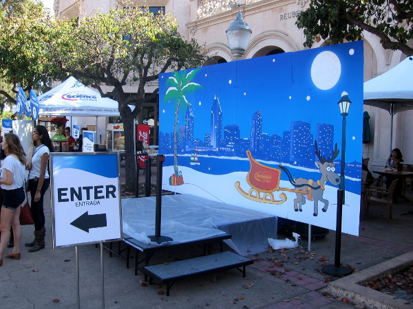 Photos with Santa will take place here and elsewhere once the sun sets.