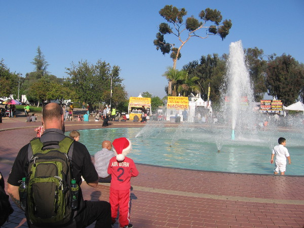 Lots of people dressed for the holidays this afternoon at December Nights in San Diego.