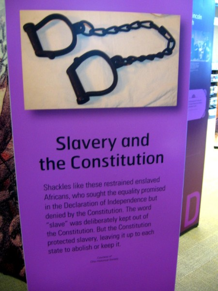 The original Constitution didn't abolish slavery. It left the matter to the states.
