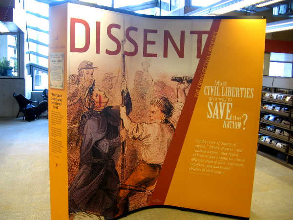 Exhibit examines dissent, and Lincoln's choice to suspend the writ of habeas corpus.