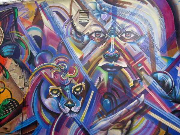 Mind-blowing street art uses a whole spectrum of finely painted colors.
