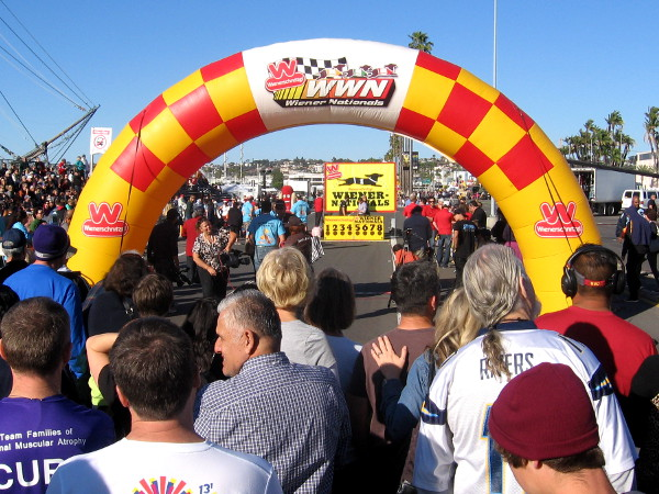 A big crowd gathers for the 2014 Wienerschnitzel Wiener Nationals in San Diego!