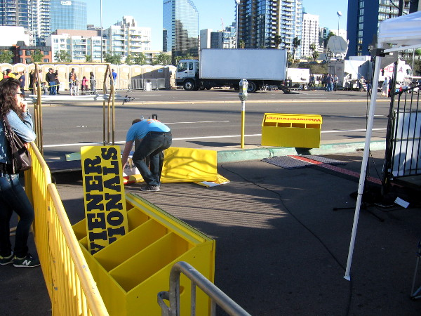 Time to clear stuff away to prepare for the Big Bay Balloon Parade down Harbor Drive!