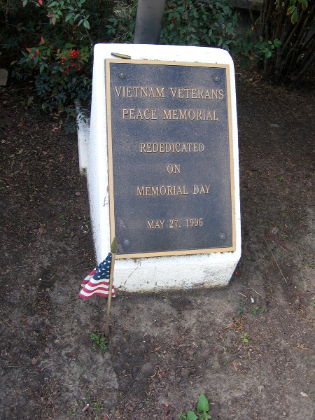 Vietnam Veterans Peace Memorial was originally located in Old Town.