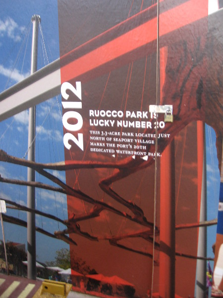 2012: Ruocco Park immediately north of Seaport Village is dedicated.