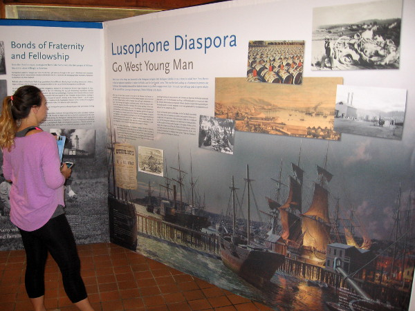 Displays recount the history of Lusophone (Portuguese-speaking) whalers in America.