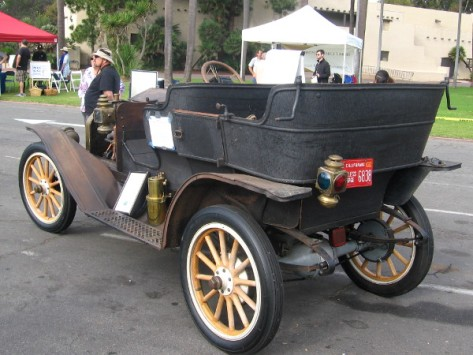 Not sure how this old horseless carriage would fare in a race.