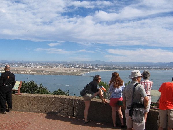 View from Cabrillo National Monument Visitor Center scenic overlook. Downtown San Diego is visible to the east.