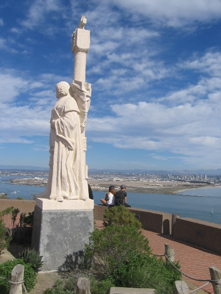 Statue of Cabrillo donated by the Portuguese government at a popular lookout spot.