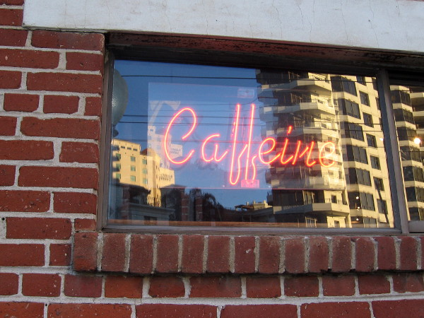 Caffeine can be found across the street near the Seaport Village trolley station.