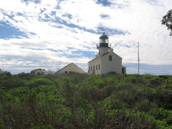 I took lots of photographs while climbing up toward the beautiful Old Point Loma Lighthouse.