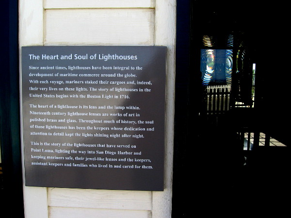 The heart of a lighthouse is the lens and lamp. 19th century lenses are works of art made of polished brass and glass.
